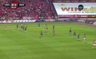ЦСКА откри резултата с уникален гол