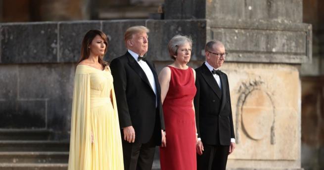 Американският президент Доналд Тръмп и съпругата му Мелания пристигнаха след