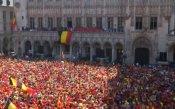 Посрещнаха белгийците като национални герои в Брюксел