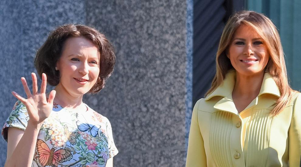 Две първи дами: Мелания Тръмп и Йени Хаукио си побъбриха в Хелзинки...