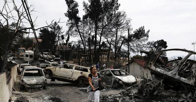Броят на жертвите на пожарите в Гърция, които са най-смъртоносните