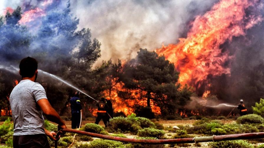 Обявиха вероятната причина за пожарите в Гърция