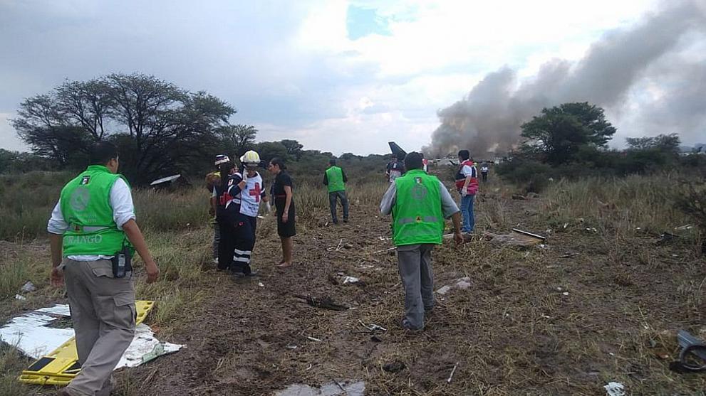 самолет катастрофа Мексико