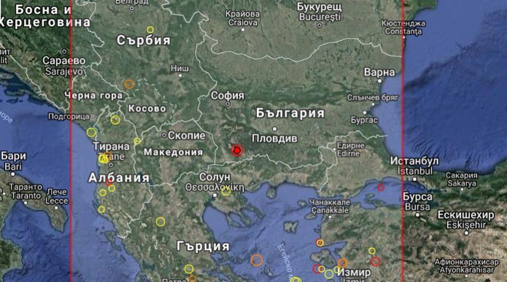 Земетресение разлюля Югозападна България