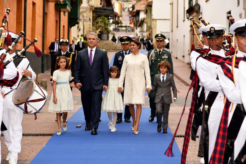 Президентът на Колумбия и неговото семейство