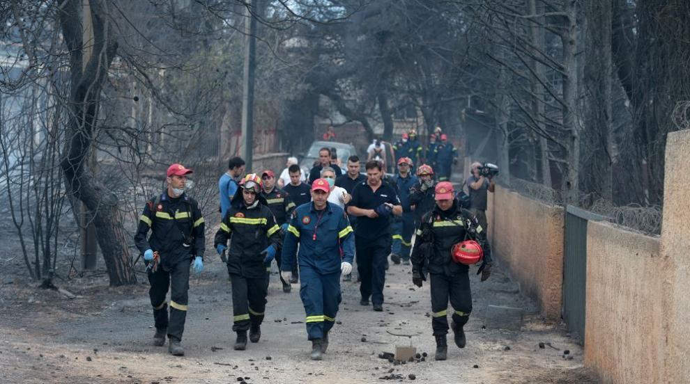Евакуираха две села заради голям пожар в Гърция