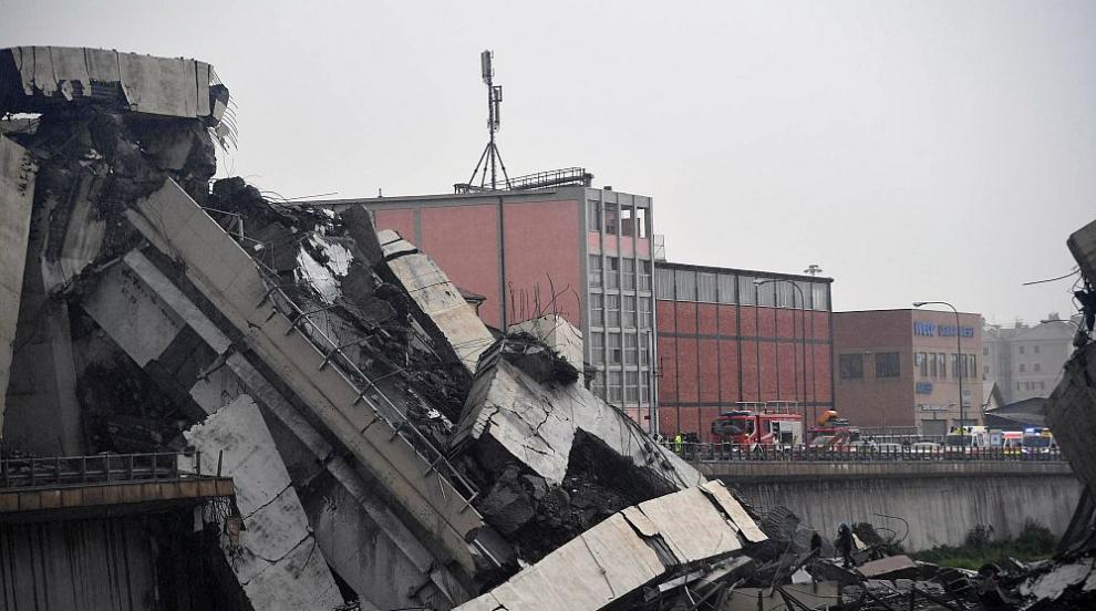 Рухна мост в Италия, десетки са загинали (СНИМКИ/ВИДЕО)
