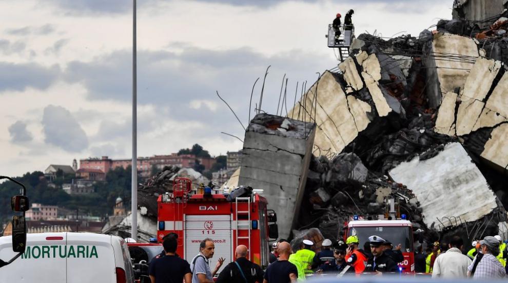 Спасителната операция в Генуа продължава, броят на жертвите расте