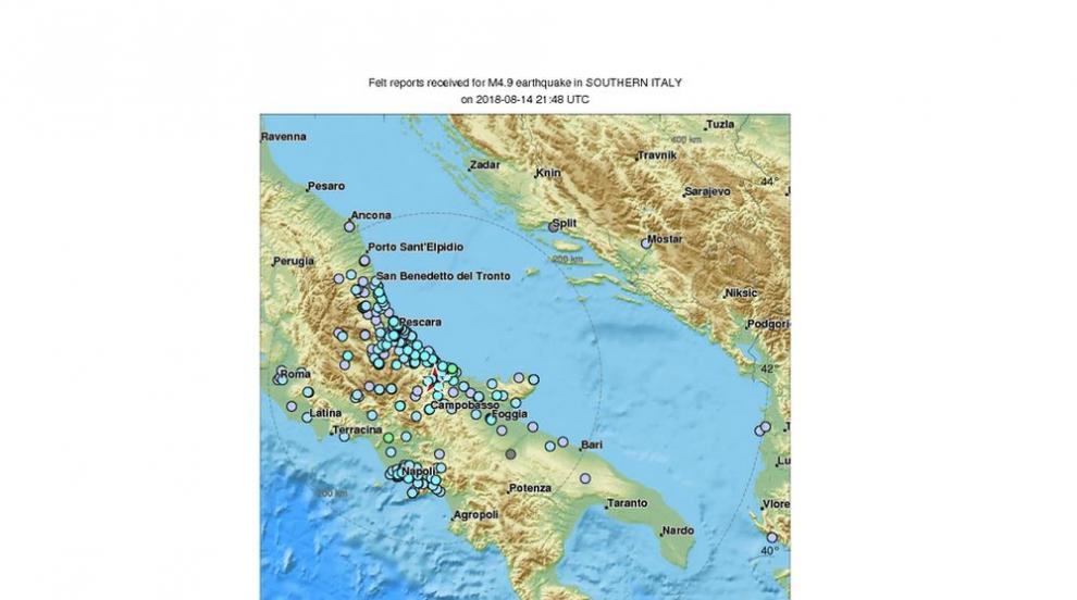 Земетресение с магнитуд 4,7 разтърси Италия