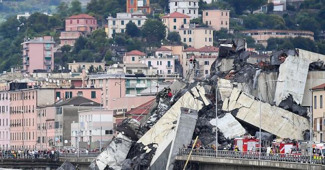 Италианският министър-председател Джузепе Конте обяви 12-месечно извънредно положение в Генуа