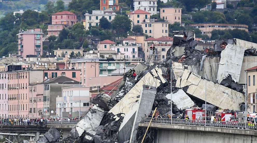 Италия обяви извънредно положение след срутването на моста в Генуа