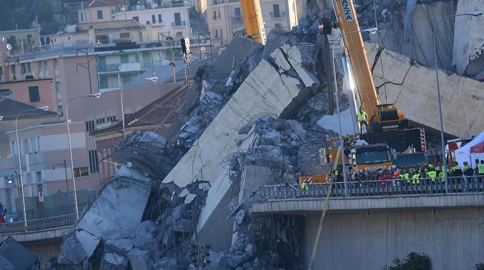 Близо 20 души са в неизвестност след срутването на мост в Генуа
