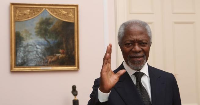 Нобеловият лауреат за мир Кофи Анан почина на 80 години