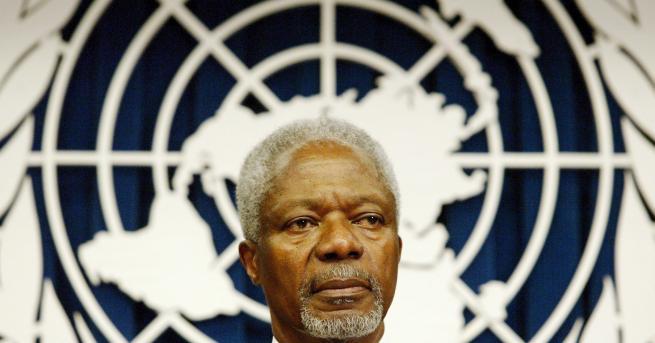 На 81-годишна възраст почина седмият генерален секретар на ООН Кофи