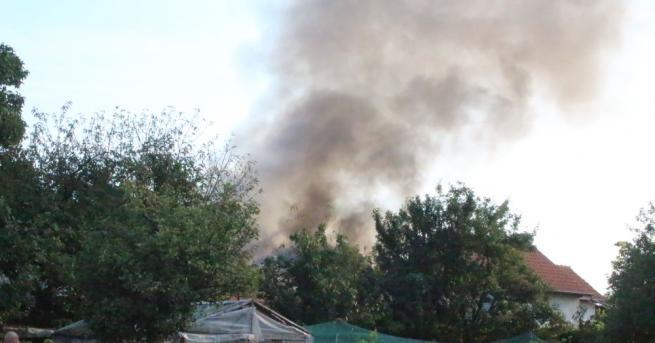 Къща изгоря в Казанлък тази сутрин. Инцидентът е станал около