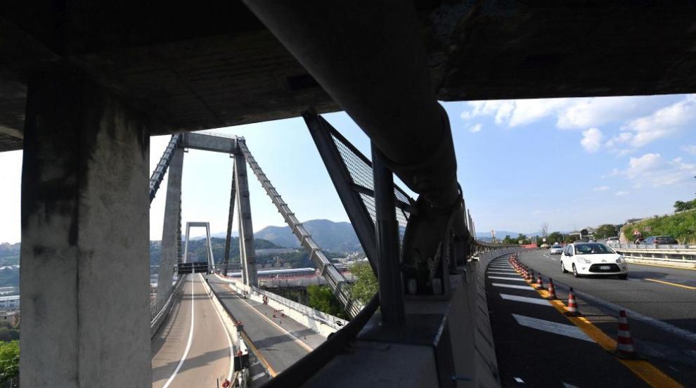 Камера запечатала рухването на моста в Генуа (ВИДЕО)