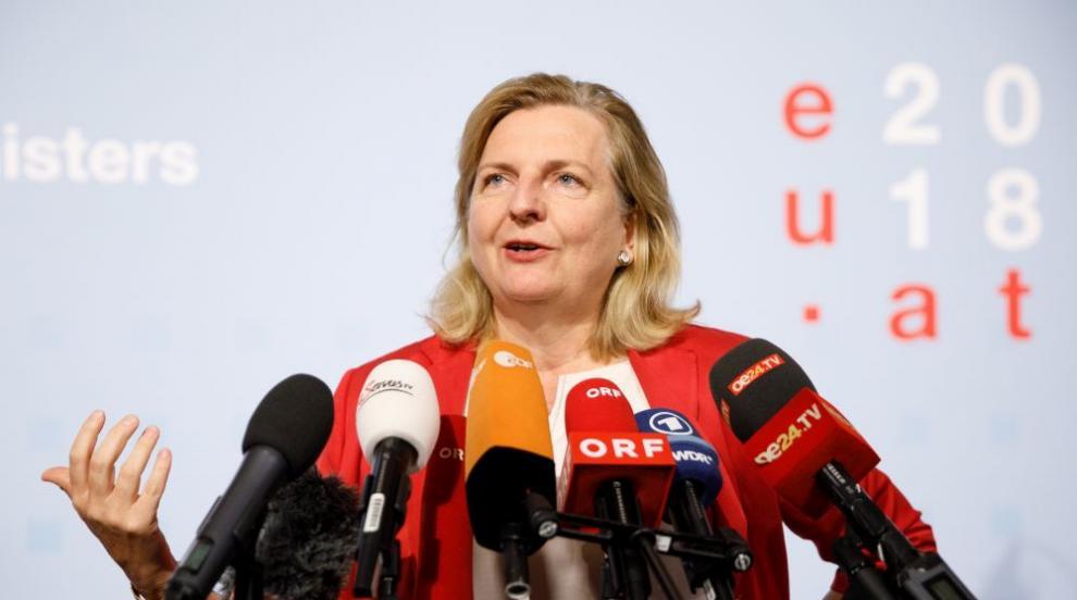 Австрийската външна министърка отново се развихри