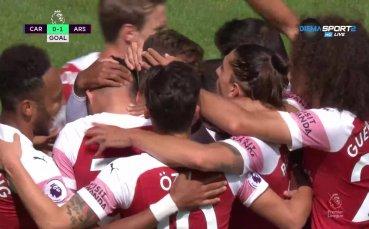 Арсенал удари пръв срещу Кардиф в Уелс