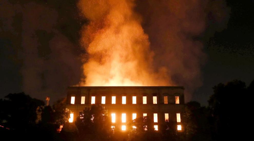 Пожар опустоши Националния музей на Рио де Жанейро (ВИДЕО/СНИМКИ)