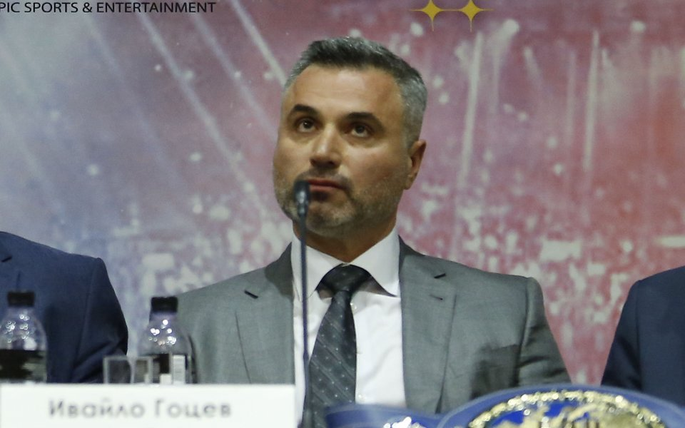 Мениджърът на Кубрат Пулев Ивайло Гоцев говори пред медиите след