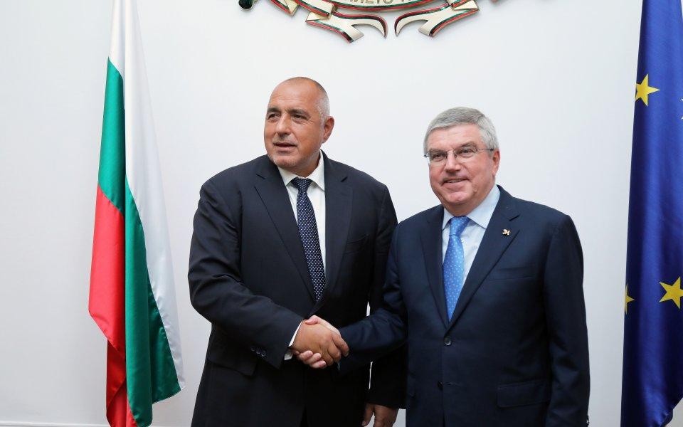 Премиерът Борисов към Томас Бах: Вложихме 350 млн. за нови зали