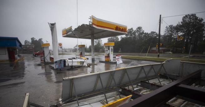 Ураганът Флорънс, който тази сутрин удари атлантическия бряг на САЩ,
