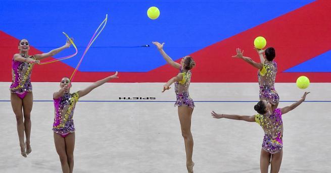 Националният ансамбъл на България по художествена гимнастика спечели бронзовите медали