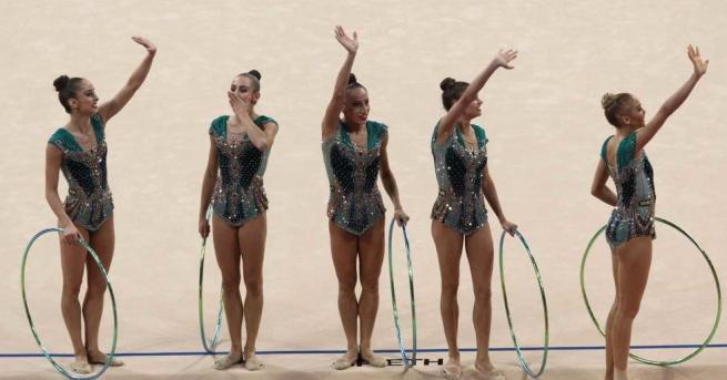 Българският ансамбъл по художествена гимнастика спечелизлатен медал във финала на