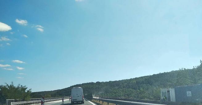 Участъкът на автомагистрала