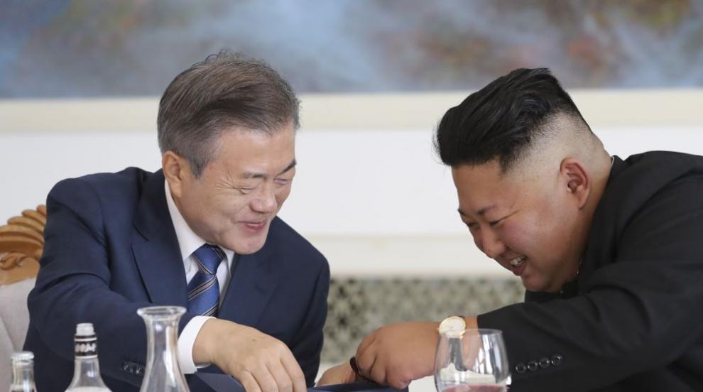 Лидерите на двете Кореи затоплиха отношенията си (СНИМКИ/ВИДЕО)