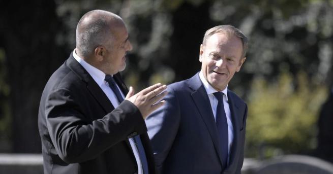 Министър председателят на България Бойко Борисов поздрави Доналд Туск, който