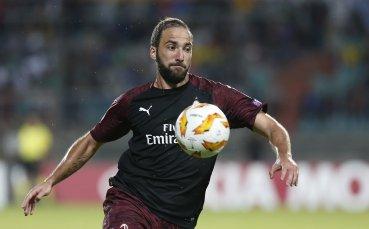 Игуаин донесе трите точки на Милан, реми на Олимпиакос – Бетис