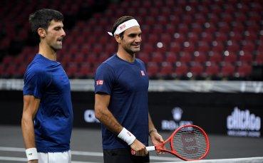 Имат ли спиране: Федерер и Джокович заедно на двойки