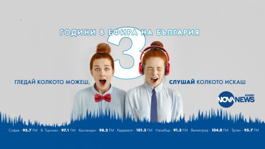 <p>Радио NOVA NEWS – три години в ефира на България</p>