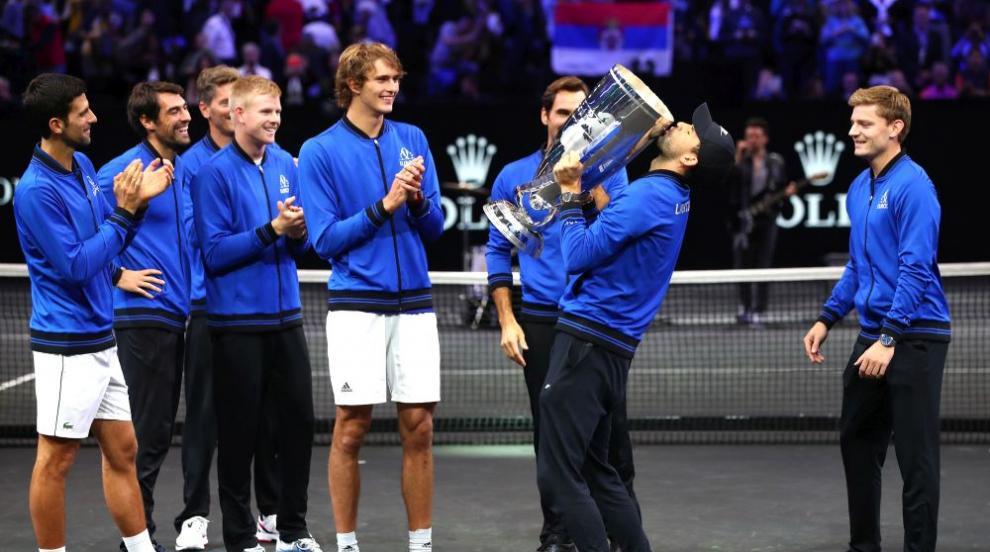 Григор Димитров взе първи трофей в ръце през 2018 г. (СНИМКИ)