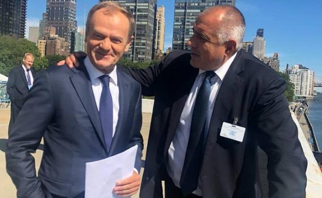 Доналд Туск и Бойко Борисов в Ню Йорк