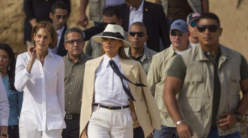 Мелания Тръмп приключи африканската си обиколка в Египет
