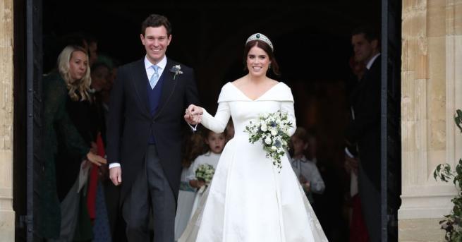 Британската принцеса Юджини и съпругът й Джак Бруксбанк разпространиха официални