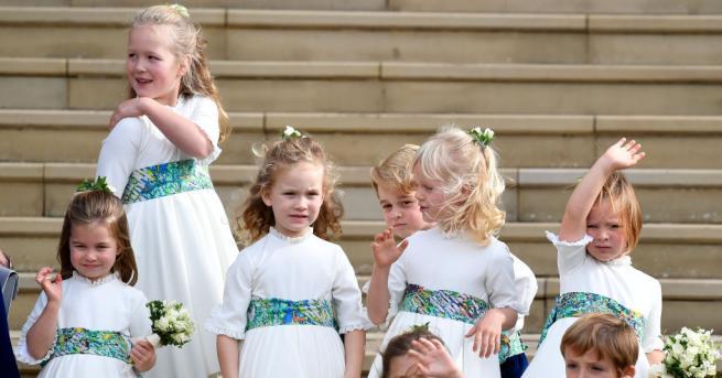 Най-малките и сладки гости на сватбата на британската принцеса Юджини
