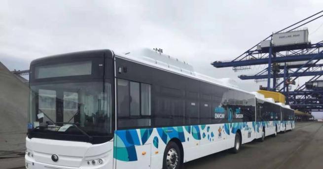 Първите 20 електробуса за градския транспорт пристигнаха вчера на пристанището