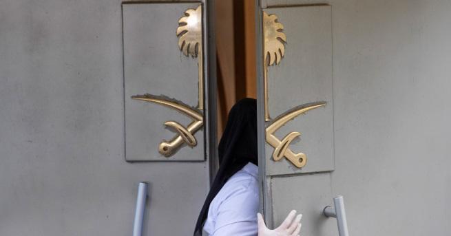 Някои материали в саудитското консулство в Истанбул, където преди две