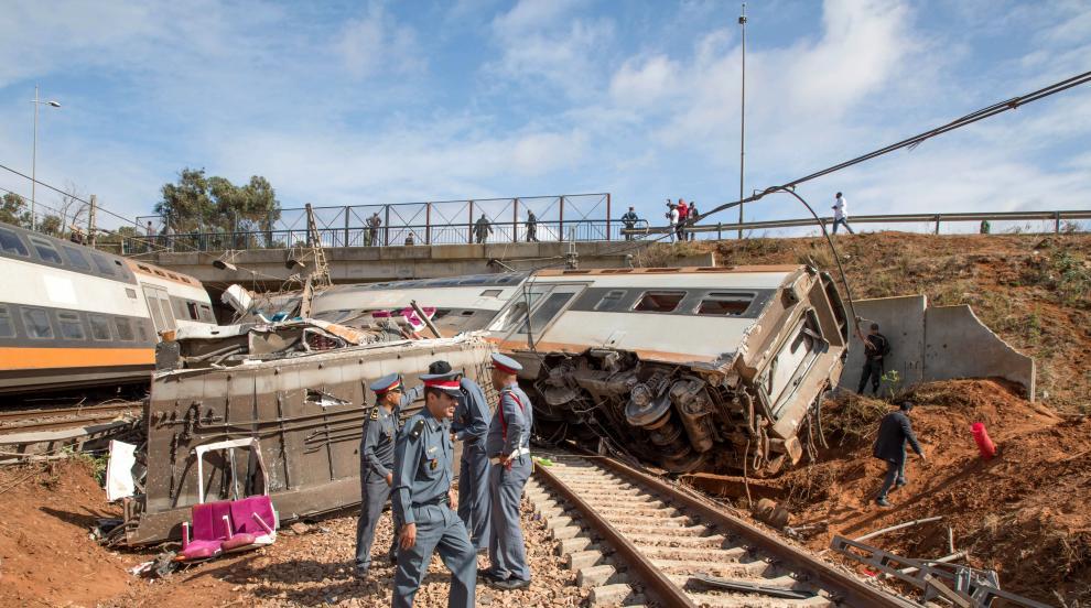 Загинали и ранени при влакова катастрофа в Мароко