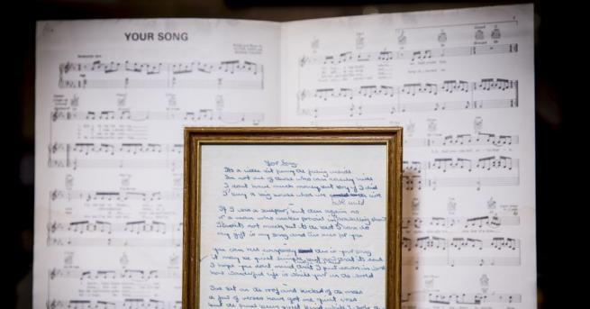 Текстовете на някои от най-големите хитове на Елтън Джон -
