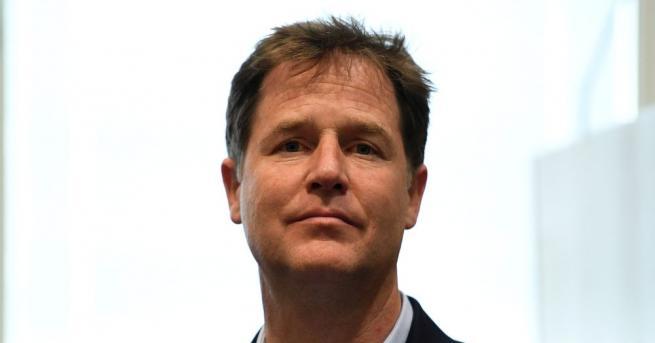 Британският бивш заместник министър-председател Ник Клег, водещ противник на Брекзит,