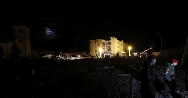 Най-малко четирима души са загинали по последни данни при взрива