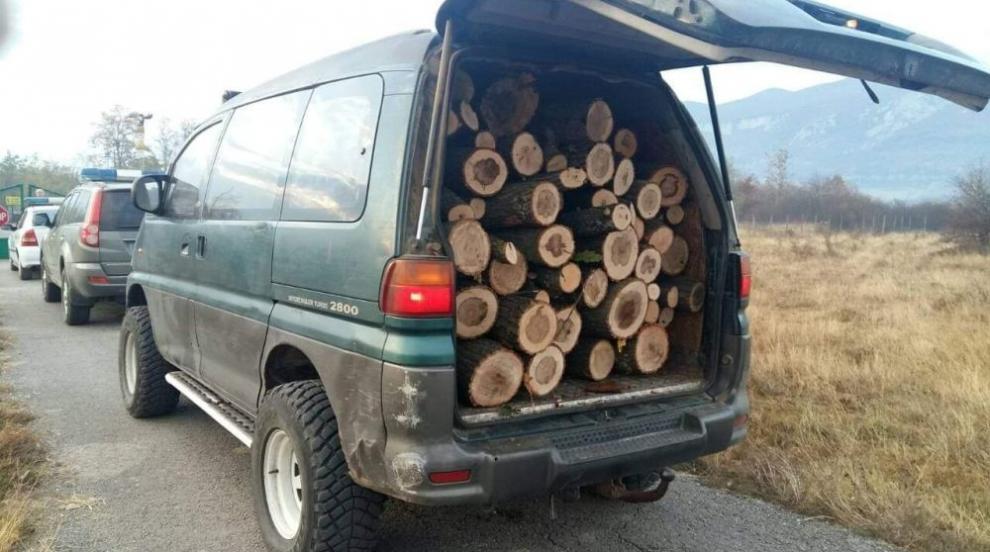 Горски задържаха седем души за незаконна дървесина