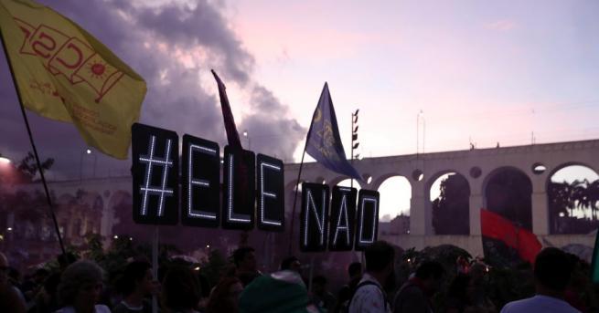 Хиляди бразилци се включиха в протест срещу крайнодесния кандидат за