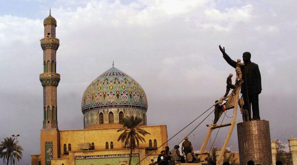 Ирак си поиска от Йордания статуя на Саддам Хюсеин, изнесена през 2003 г.