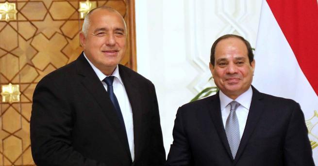 Бойко Борисов на среща с президента на Египет Държавният глава