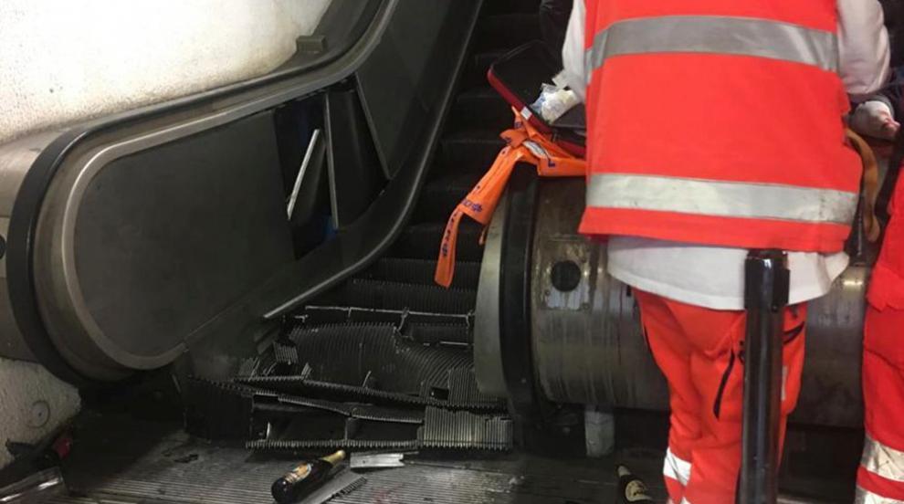Инцидент с ескалатор в метрото на Рим, има пострадали (ВИДЕО)